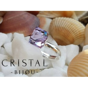 Inel CUBE Violet